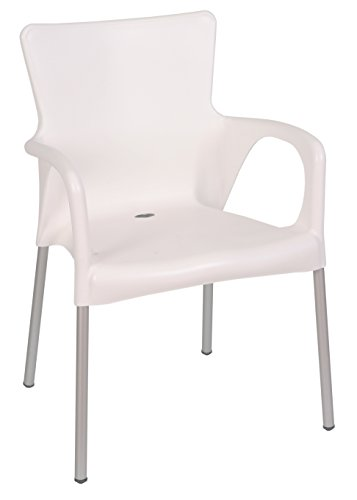 Cheap Tensai Ana Collection Wide Square Back Durable Plastic Chair – White