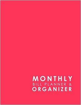 Monthly Bill Planner Organizer Bill Paying Calendar Household
