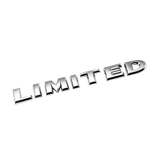 UrMarketOutlet LIMITED Chrome Aluminum Alloy Auto Trunk Door Fender Bumper Badge Decal Emblem Adhesive Tape Sticker