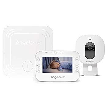 Image of Angelcare 3-in-1 AC327 Baby Monitor, with Breathing Movements Tracking, 4.3'' Video & Sound Baby