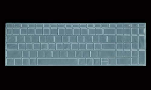 Saco Keyboard Protector Silicone Skin Cover for HP 15-bs145tu 15.6-inch Laptop -Transparent