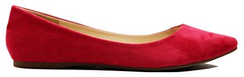 Zapatos Planos Ballet Ballerina Para Mujer Walstar Su7-rojo