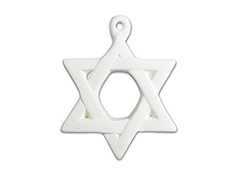 Estrella de David - para pintar cerámica - sin terminar low-fire ...