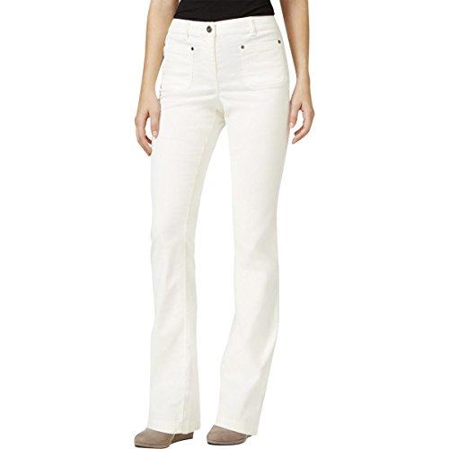 Ivory Corduroy (Style & Co. Womens Corduroy Boot Leg Corduroy Pants Ivory 6)