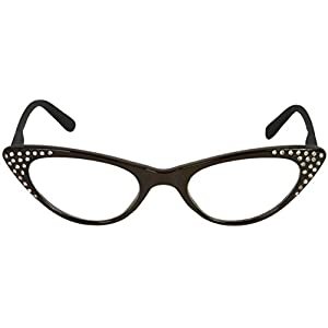 Readers.com The Paulina Rhinestone Cat Eye Reading Glasses Full Frame Readers for Women, + 3.50 Black (Microfiber Cleaning Carrying Pouch Included)