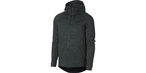 Nike Sportswear Tech Fleece Full Zip Hoodie (L, Vintage Green/Black)