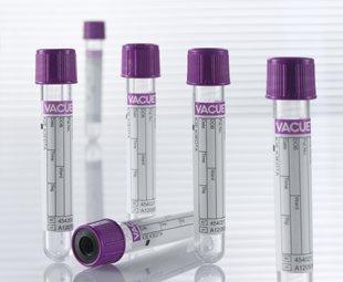 Greiner Bio-One VACUETTE Blood Collection Tubes, K2 EDTA, Polyethylene Terephthalate, 13x100-6ml, Lavender Cap, 456002 (Pack of 50)