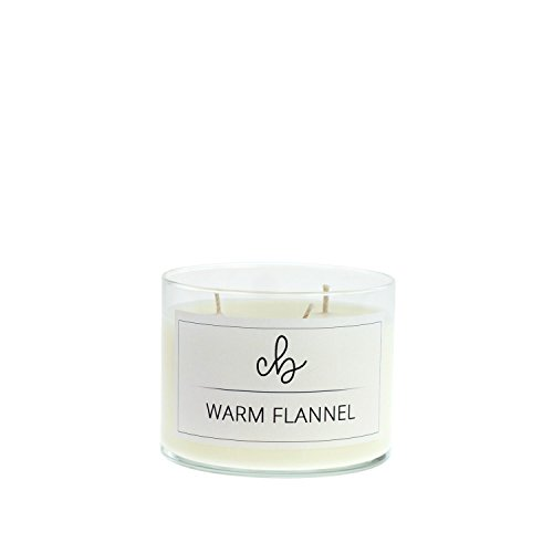 CandleBox Store Warm Flannel Handmade Soy Wax Candle, Amber, Minty Vanilla, Pine, Balsam, Cinnamon and Spice Scented, 10.5 Ounces, 40 Hours Burn Time, - Mint Brisk