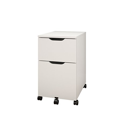 Arobas 603203 Mobile Filing Cabinet from Nexera, White