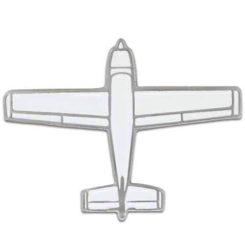 PinMart White Air Plane Pilot Flying Aviation