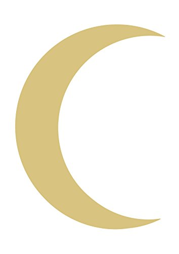 Crescent Moon Unfinished MDF Wood Cutout Variety of Sizes USA Made Home Decor (6