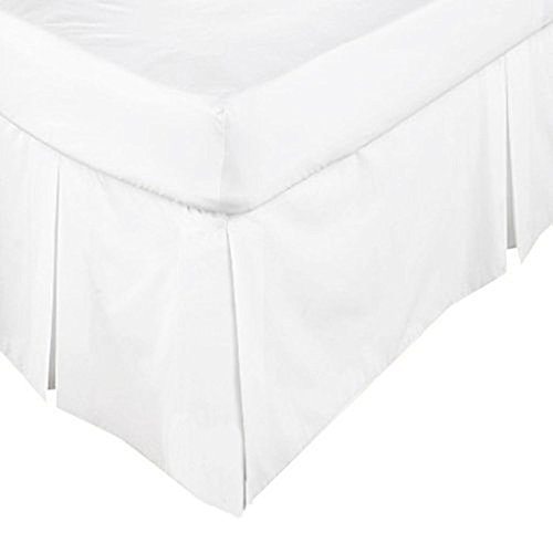 Scala Hotel Design Thread Count 650 Egyptian Cotton Tailored Split Corner Bed Skirts Twin Size Solid Drop Length 12 Inches White (Egyptian Cotton 650 Thread)