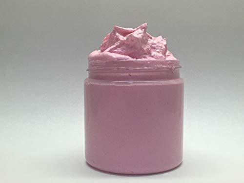 Rose Jam Type Whipped Foaming Sugar Scrub, Lathering Sugar Scrub, Whipped Soap Scrub, Handmade, 4 fl oz (Whipped Handmade Sugar)