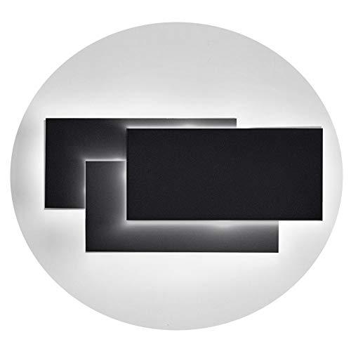 Ralbay Moderno Aplique de Pared 12W impermeable IP20, Lamparas de Pared para Decoración de Casa Pasillos dormitorios aseos, Blanco neutro 4000~4500K, ...