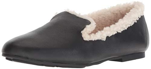 Gentle Souls Women's Eugene Cozy Loafer Flat, Black, 7.5 M US