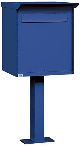Salsbury Industries Pedestal Drop Box, 4276BLU, Large, Blue,