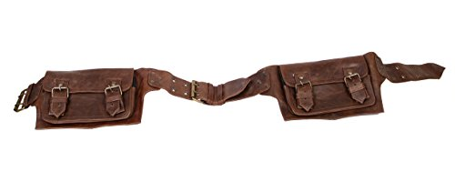 Brown Pouch - Mens Boys Vintage Leather Messenger Belt Sling School Belt Leather Pouch Messenger Belt Christmas Gift Families and Friends