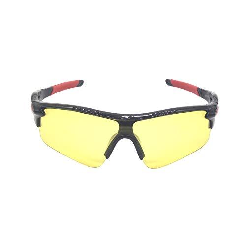 MINGZE Veiligheidsbril, Beschermende Bril Met Doorzichtige Anticondens Krasbestendige Wrap-around Lenzen En…