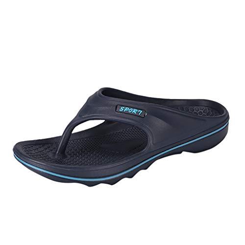 (Men Crocband Flip Flops - Summer Pure Colour Anti-Slip Thong Sandals Male Active Sports Slip-on Slipper)