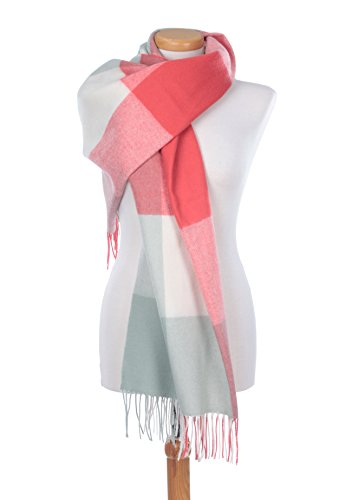The Tartan Blanket Co. Scottish Lambswool Blanket Scarf Rothes Rose Tartan by The Tartan Blanket Co.