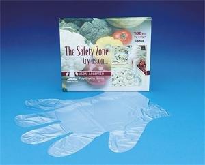 Safety Zone Polyethylene Gloves, Large, Case of 1000 Glov...