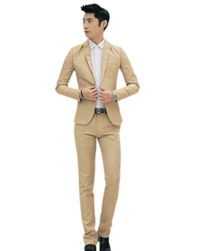 3 Costumes Affaires Chemise Marriage Marron Blazers Hommes Nouveau Pièces Pantalons Xfentech Vestes 5IHUwqv
