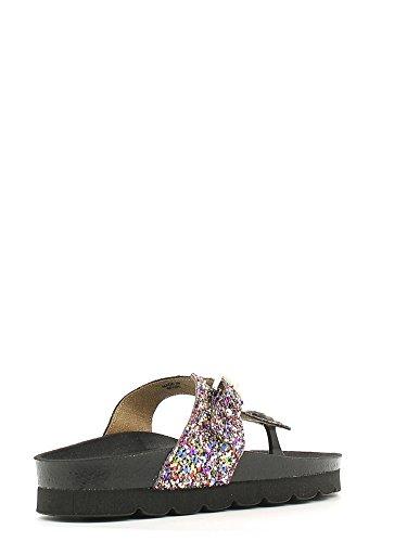 DECK Birk Multicolore boucle dame pantoufles Grünland paillettes CB0639 flops noires Oadvxd8