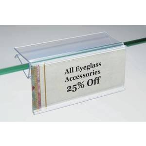 Glass Shelf Label Holders Pack of - Of Glasses Prices