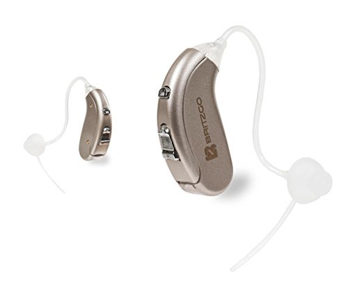 Britzgo Hearing Amplifier BHA-702S Silver Gray Back The Ear Set of 2 (Best Hearing Aid Ads)
