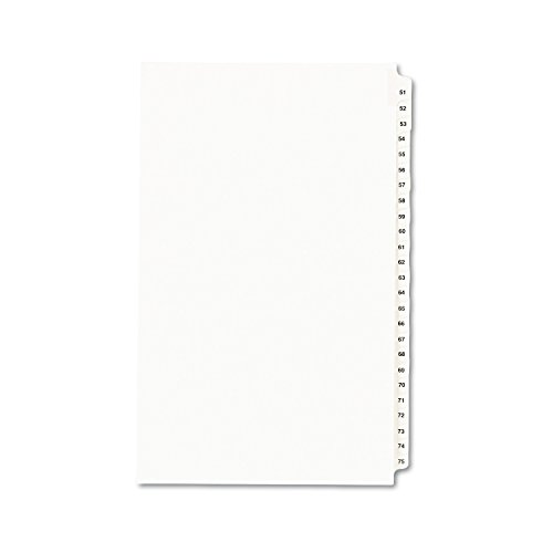 - Avery 8 ½ x 14 Inch Legal Dividers, Collated Set 51 - 75 (01432)