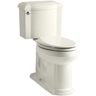 Piece Two Devonshire Toilets (Kohler 3837-33 Devonshire Comfort Height Elongated 1.28 GPF Toilet with Aquapiston Flush Technology and Left-Hand Trip Lever (2 Piece), Mexican Sand)