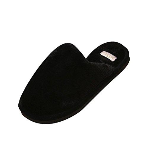 Slipper In Pelliccia Sintetica Inkach, Scarpe Aperte Da Uomo Morbide E Morbide Sandali Piatti Sfilacciati Su Scarpe Invernali Nere