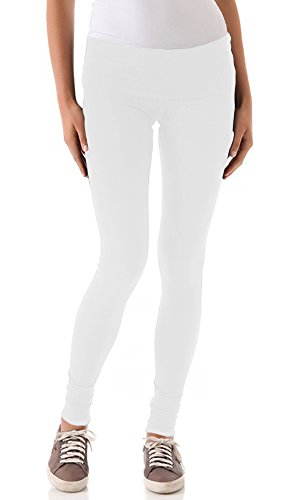 So Low Jersey Long Foldover Legging (Small, White)