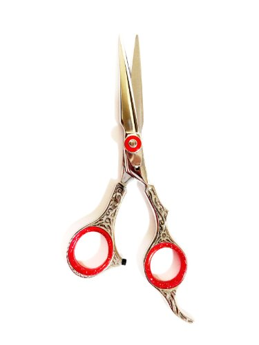 ZZZRT Polish J2 Japanese Steel New Professional Razor Edge Titanium Hairdressing Barber Salon Scissor/Shear 5.5