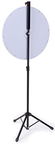 Prize Wheel with Height-Adjustable Floor Stand, 24'' Write-on Surface for Wet or Dry-Erase Markers, 14 Prize Slots, with Carrying Bag by Displays2go (Image #2)