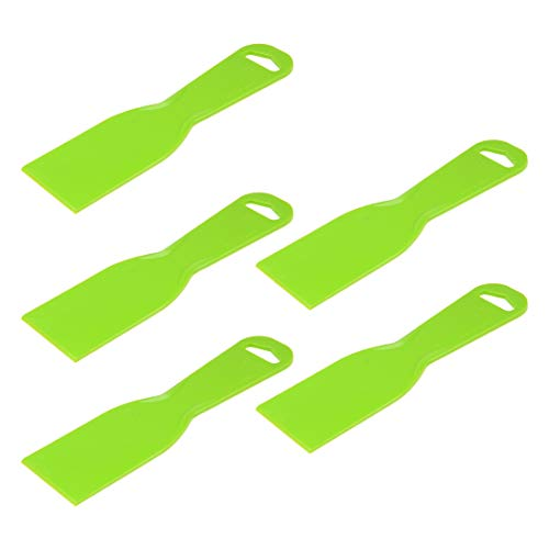 uxcell Putty Taping Drywall Scraper 2 inches Flexible Plastic Blade Disposable Spreader for Wall Painting 5pcs ()