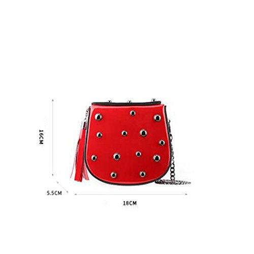 H Diagonale Avec Sac Sac Mini D'épaule Paquet Embrayage Rivets à Féminin Bandoulière LQQAZY aw7RqR