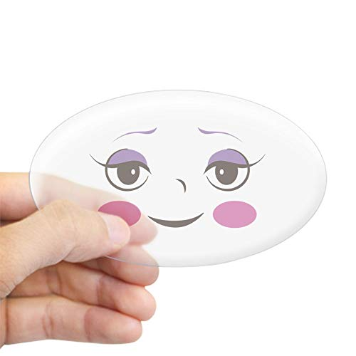 CafePress Doll FACE 4 Sticker Oval Bumper Sticker, Euro Oval Car Decal