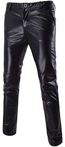 Hombre Smooth Pop En Cómodo Autumn Largos Y Black Spring Show Battercake Pieles Negro Populares Slimm Pantalones De Metallic Fashine Rectos wExRf