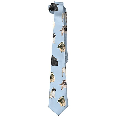 - XINYE-tie Unisex Pug Dog Cute Love Pattern Wide Novelty Long Necktie Tie