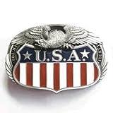 USA Victory Liberty Eagle Belt Buckle