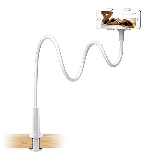Beautsoful Soporte para telefono movil con Clip - con Agarre Flexible de Brazo Largo Cuello de Cisne Abrazadera de Montaje para iPhone X/8/7/6/6S Plus Samsung S8/S7, Utilizado para Cama, Escritorio