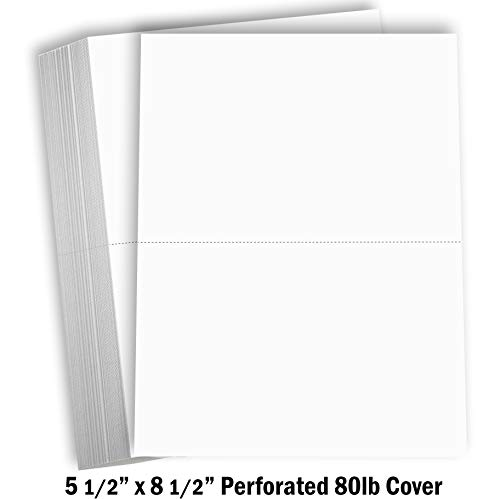Hamilco White Cardstock Thick Paper - Blank Index Flash Note & Post Cards - Greeting Invitations Stationary 5 1/2 X 8 1/2