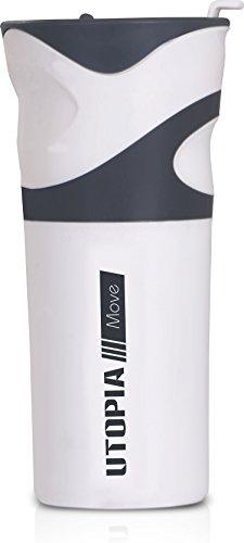 Travel Mug / Bottle Mug White & Grey 550ml - ...
