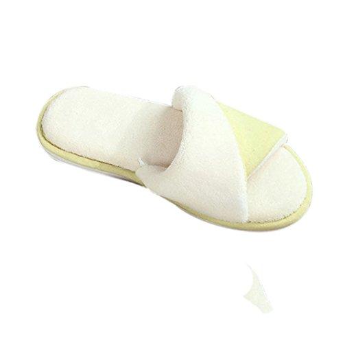 Donne Autunno Inverno Sagton Caldo Pantofola Casa Pantofole Morbide Open Toe Personalizzato Giallo