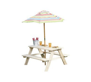 Living Accents Picnic Table Beach 35'' L X 34.6'' W X 19.7'' H, 59.4'' H by LIVING ACCENTS