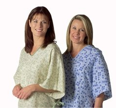 HOSPITAL GOWNS WITH IV Sleeve TIESIDE CLOSURE, Sage Royal Print by BH Medwear