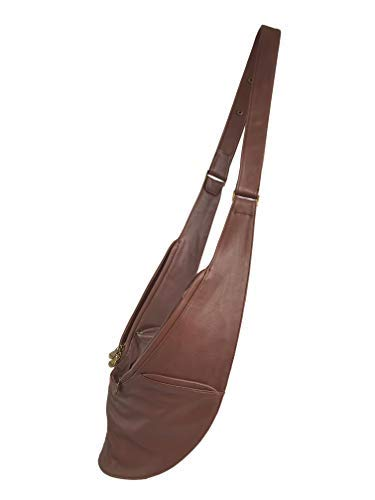 Sash Medium (Womens Crossbody Bag by SASH - Over The Shoulder Cross Body Purse with Spacious Organized Storage, Anti Theft RFID and Adjustable Strap (Brown Genuine Leather))