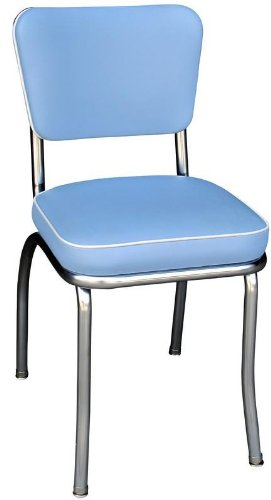 Richardson Seating Cracked Ice Retro Chrome Kitchen Chair with 2″ Box Seat, Yellow-P 31dW Ww6gRL