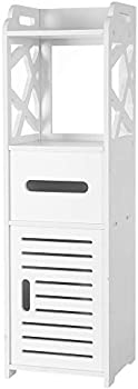 Tenozek 3-Tier Bathroom Storage Cabinet with 2 Doors